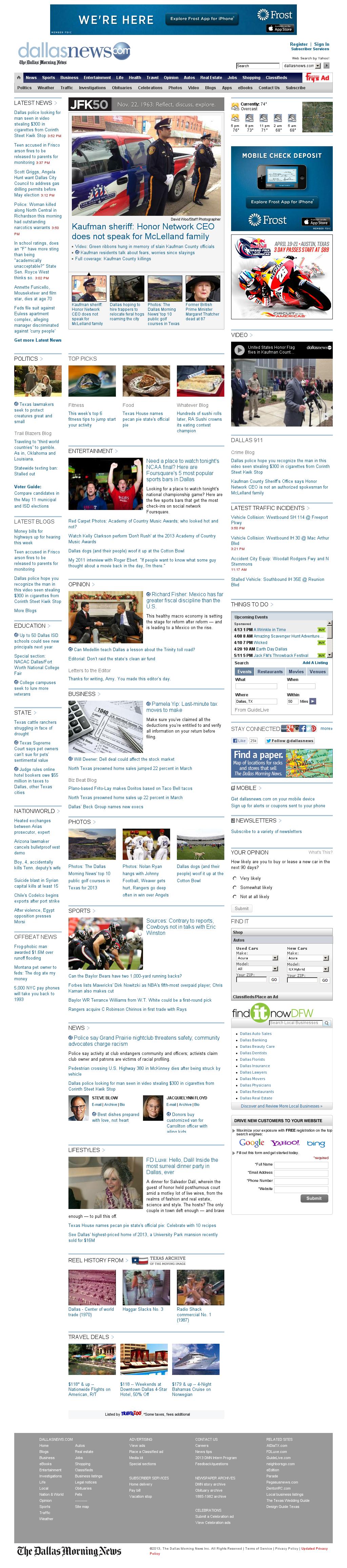 dallasnews.com at Monday April 8, 2013, 9:04 p.m. UTC