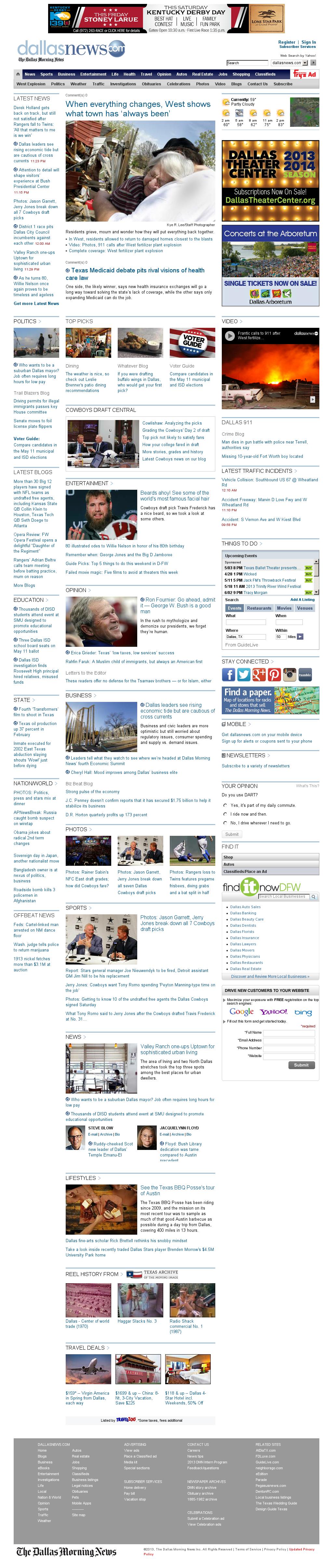 dallasnews.com at Sunday April 28, 2013, 6:04 a.m. UTC