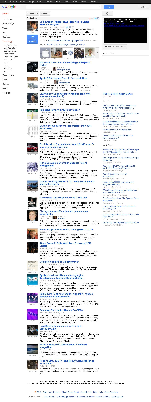 Google News: Technology at Sunday March 17, 2013, 2:11 p.m. UTC