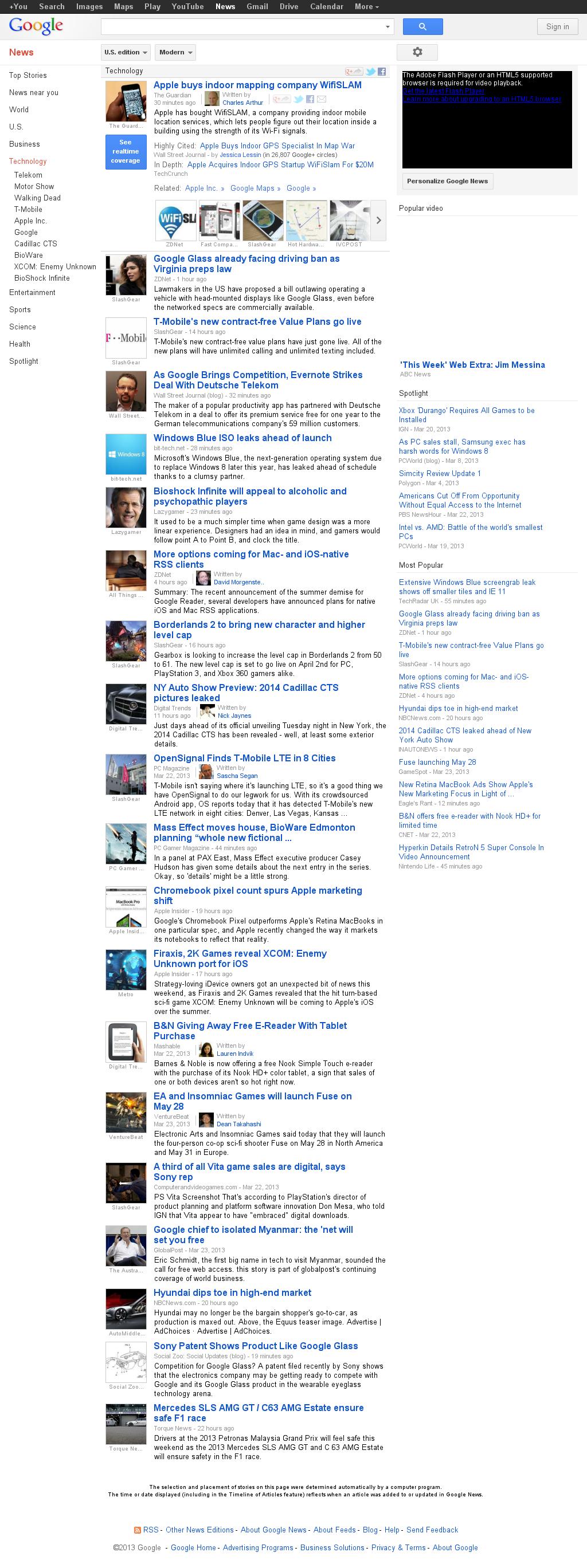 Google News: Technology at Monday March 25, 2013, 11:16 a.m. UTC