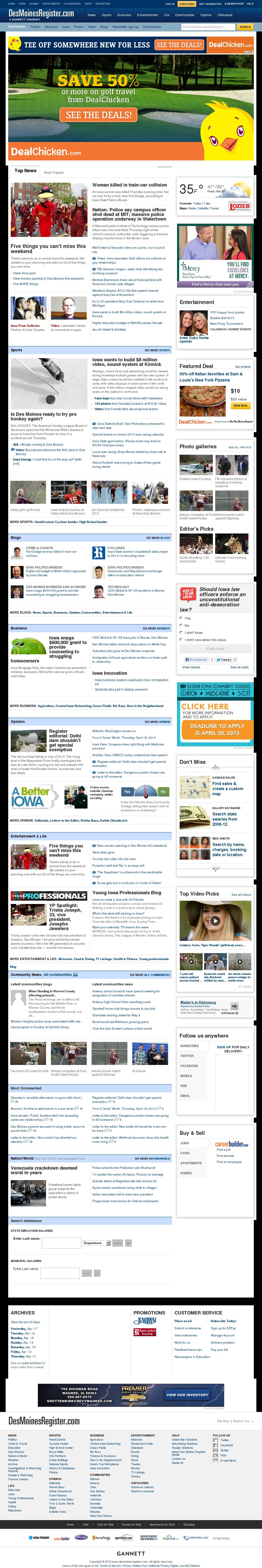 DesMoinesRegister.com at Friday April 19, 2013, 7:05 a.m. UTC