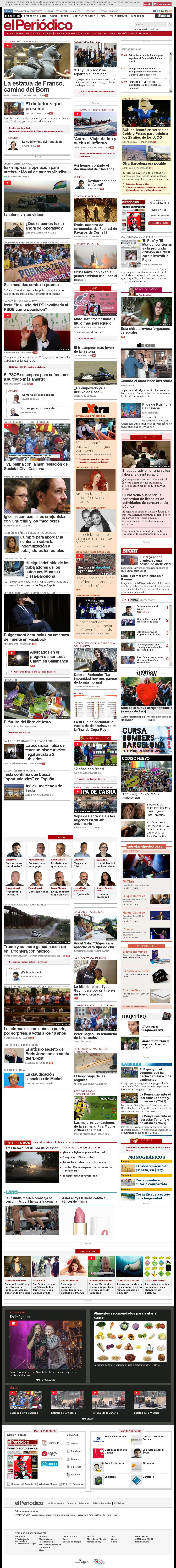 El Periodico at Monday Oct. 17, 2016, 9:12 a.m. UTC