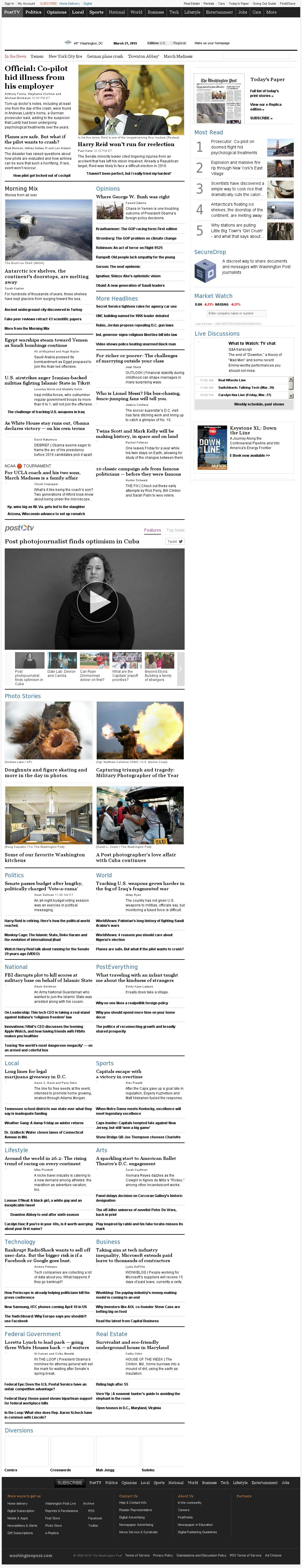 The Washington Post at Friday March 27, 2015, 1:25 p.m. UTC