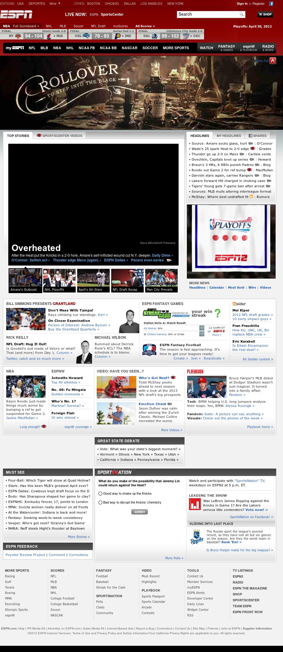 ESPN at Tuesday May 1, 2012, 1:07 p.m. UTC
