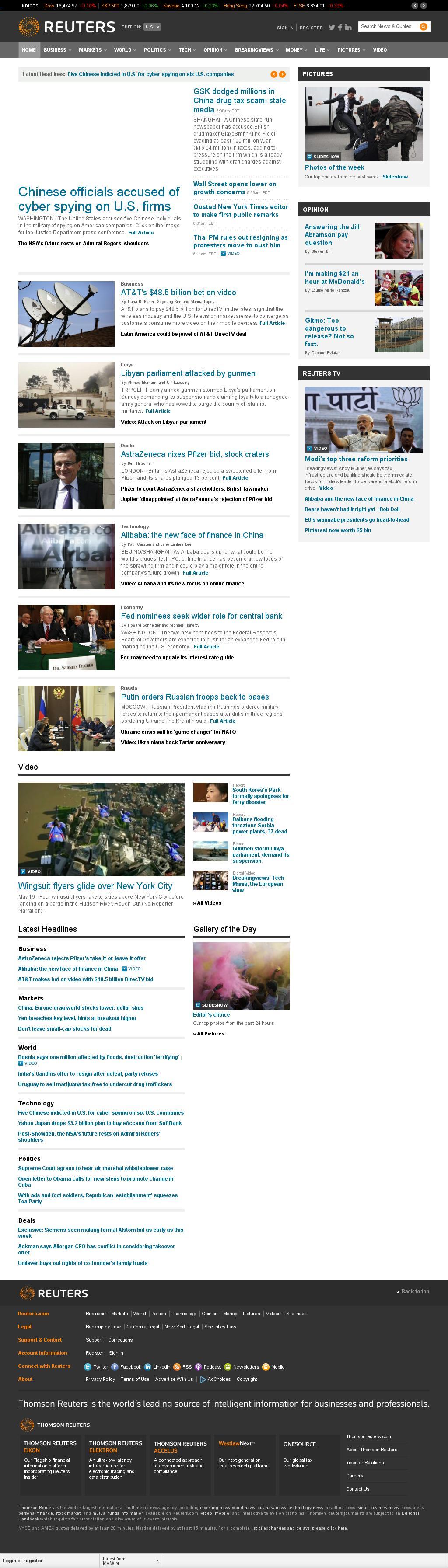 Reuters at Monday May 19, 2014, 2:17 p.m. UTC