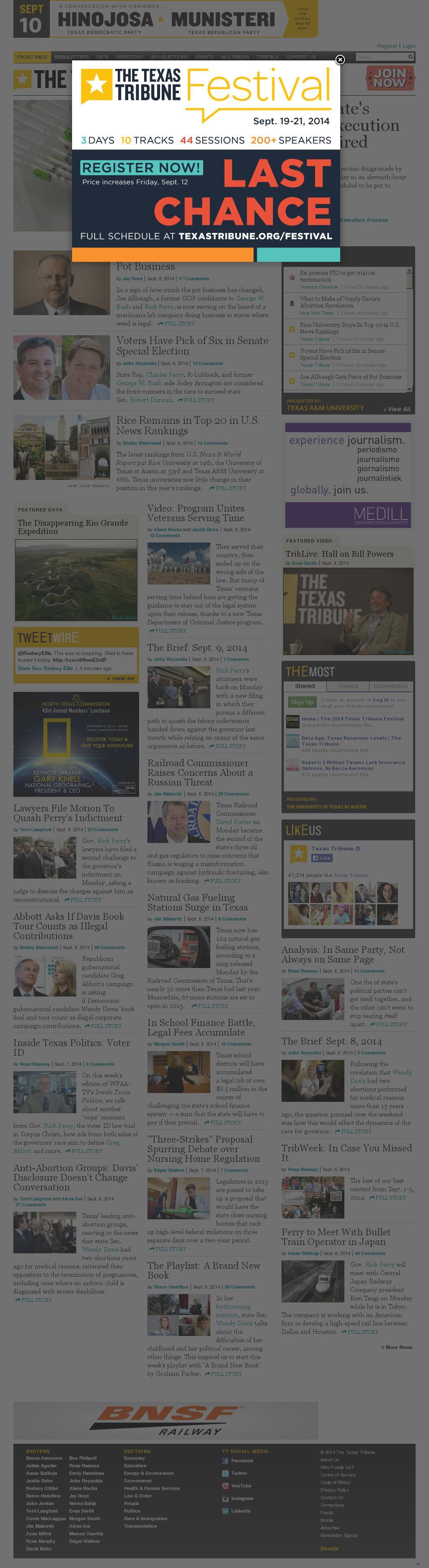 The Texas Tribune at Tuesday Sept. 9, 2014, 11:22 p.m. UTC