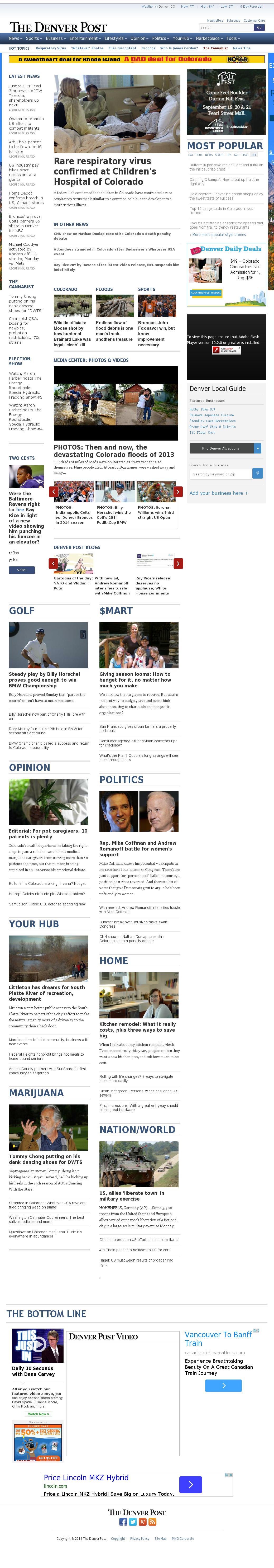 Denver Post at Monday Sept. 8, 2014, 10:06 p.m. UTC