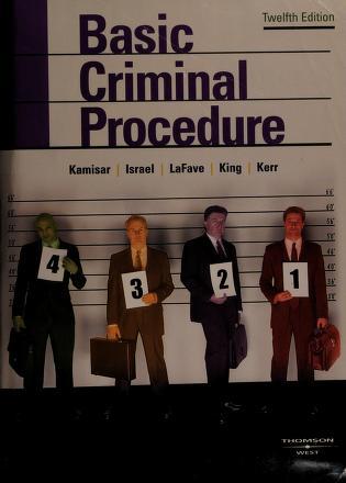 Cover of: Basic criminal procedure | Yale Kamisar