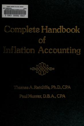 Cover of: Complete handbook of inflation accounting | Thomas A. Ratcliffe