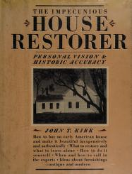 Cover of: The impecunious house restorer | John T. Kirk